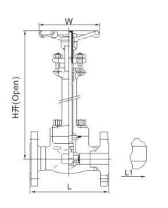 Forged steel low temperature steel gate valve